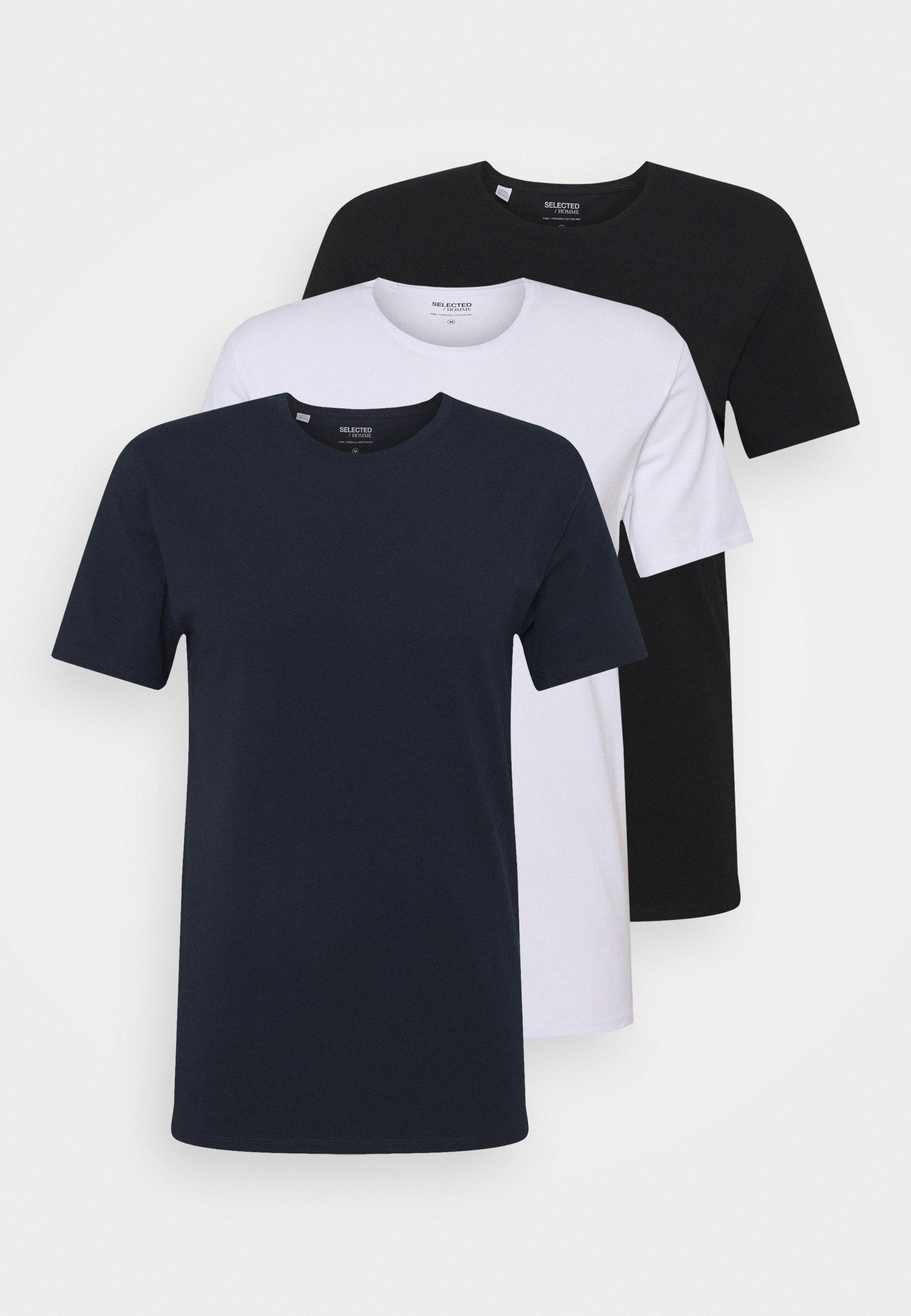 Herren SLHNEWPIMA O NECK TEE 3 PACK  - T-Shirt basic