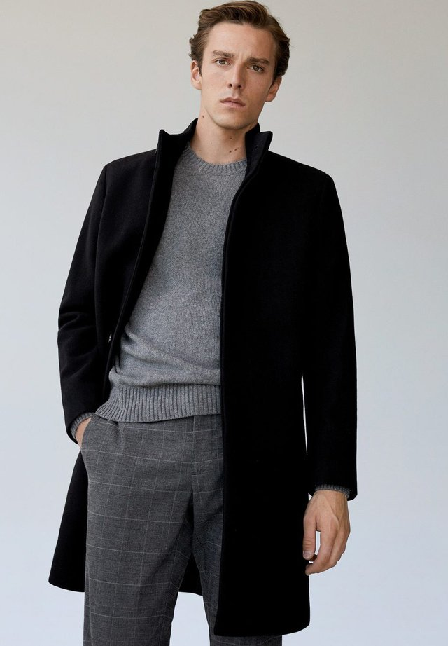 FUNNEL - Classic coat - schwarz