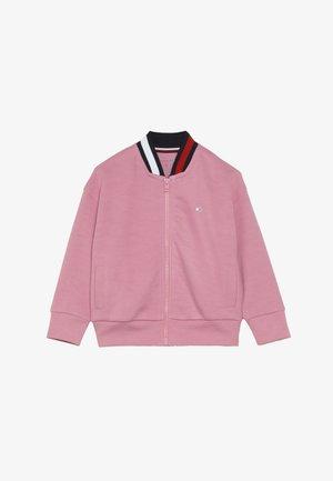SPORT FLAG BOMBER JACKET - Zip-up hoodie - cashmere rose