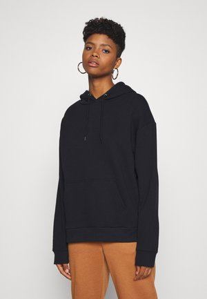 BASIC - Oversized hoodie with pocket - Bluza z kapturem - black
