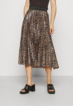 VINITBAN PRINT SKIRT - Pleated skirt - light brown