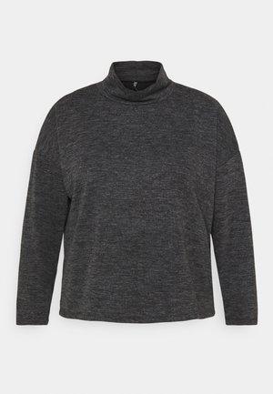 PCRELINO HIGH NECK LOUNGE  - Long sleeved top - dark grey melange