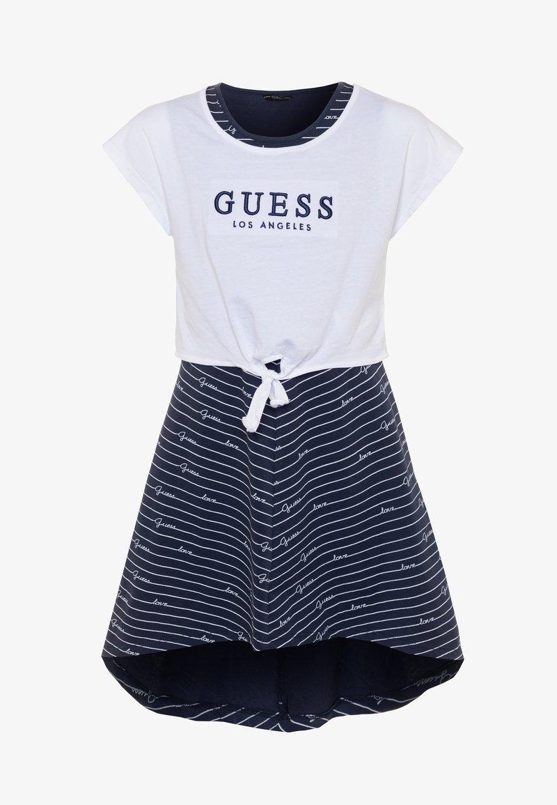 Guess - DRESS - Žerzejové šaty - blue