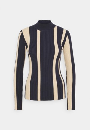 TURTLE NECK RIB - Svetr - blue