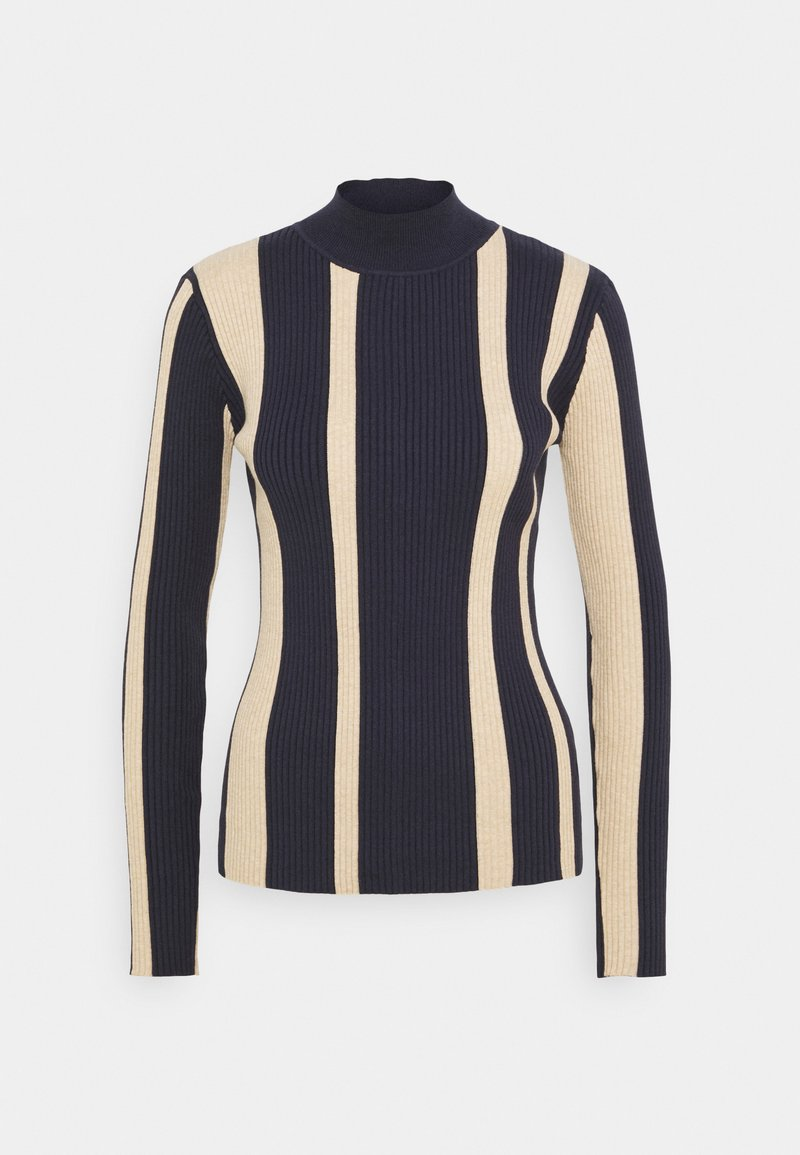 Scotch & Soda - TURTLE NECK RIB - Jumper - blue