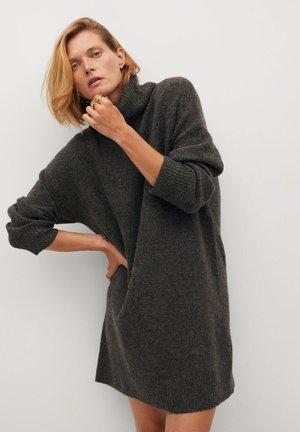 TALDORA - Pletené šaty - tmavě šedá vigore