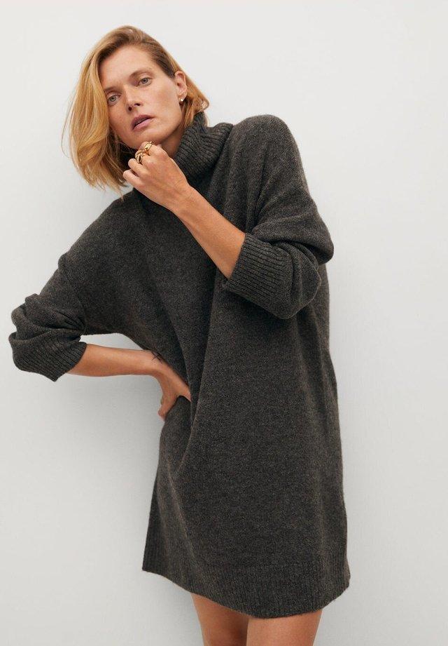 TALDORA - Jumper dress - tmavě šedá vigore