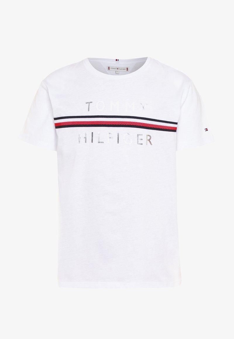 Tommy Hilfiger - FLAG TAPE TEE - T-shirt print - white