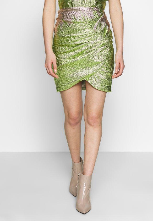 ZOE SKIRT - Minisukně - green glitter