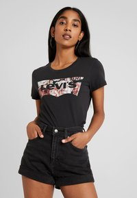 Levi's® - THE PERFECT TEE - Printtipaita - black - 0