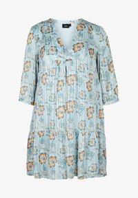 Zizzi - FLORAL PRINT  - Day dress - light blue - 3
