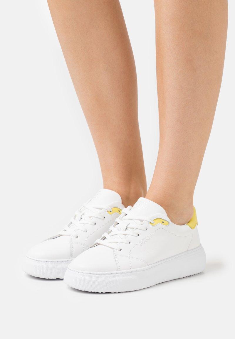 GANT - SEACOAST  - Tenisky - white/yellow