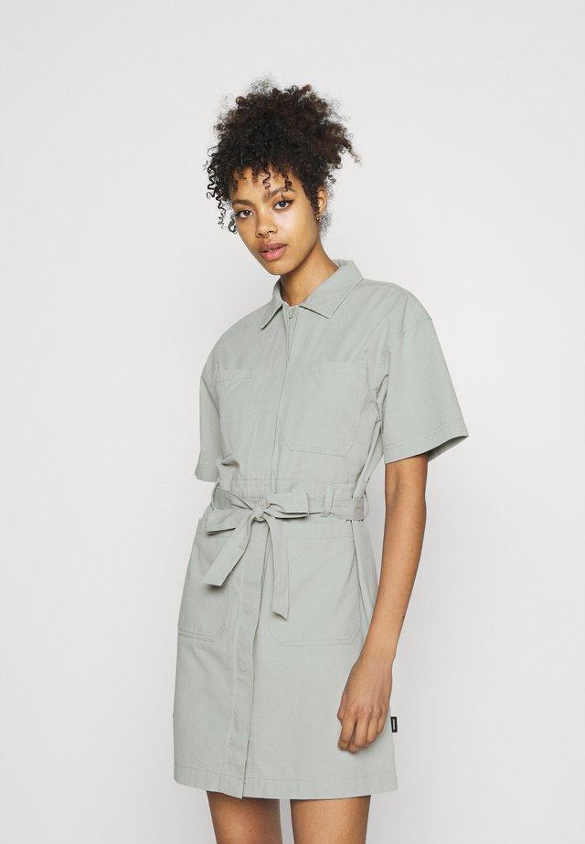 MEZ DRESS - Shirt dress - aqua grey