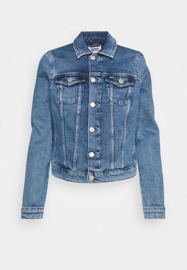 VIVIANNE SLIM DENIM TRUCKER  - Veste en jean - light blue denim