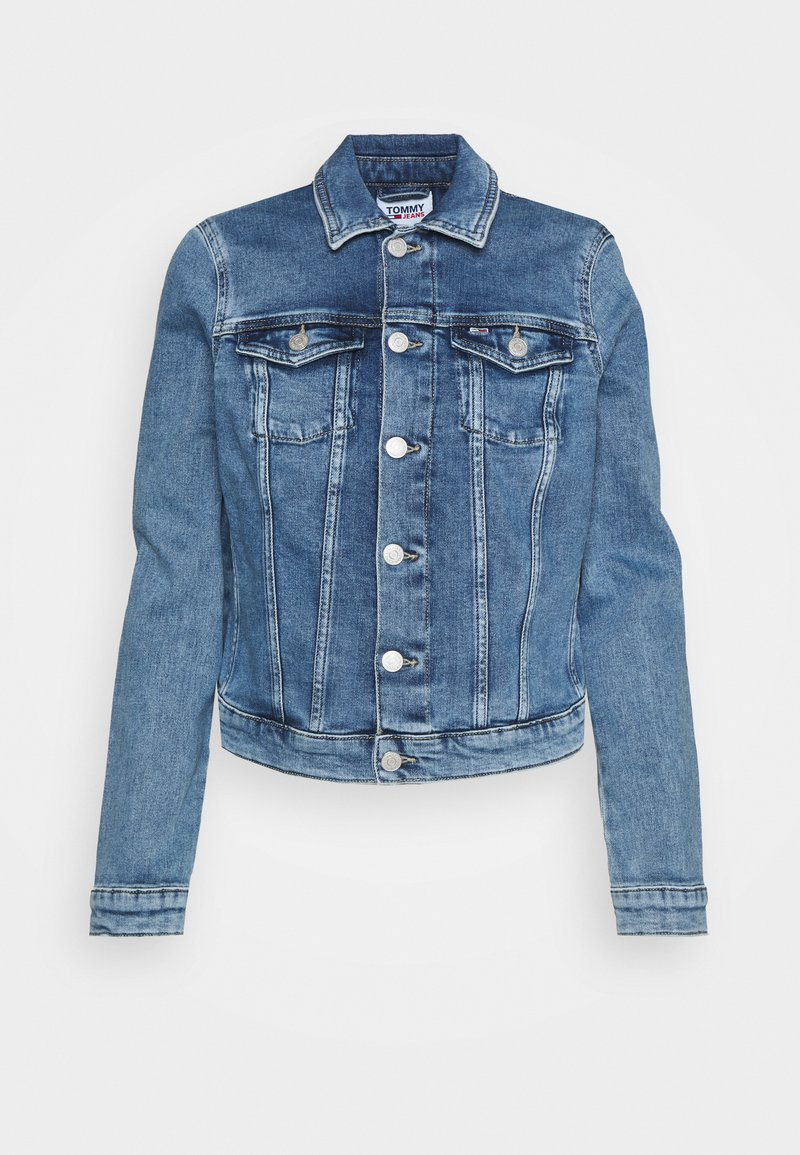 Tommy Jeans - VIVIANNE SLIM DENIM TRUCKER  - Denim jacket - light blue denim
