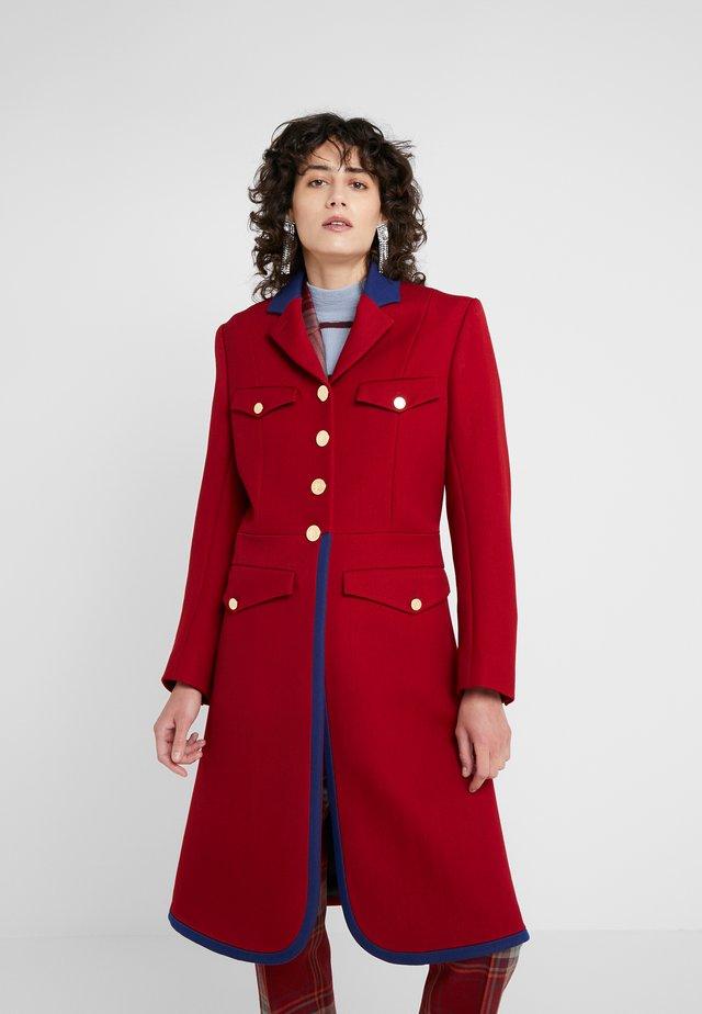 Wollmantel/klassischer Mantel - rot