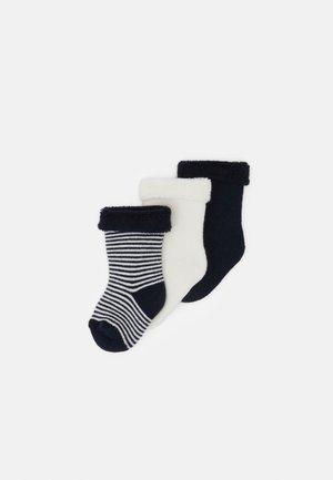PAIRES CHAUSSETTE UNISEX  3 PACK - Socks - dark blue/white