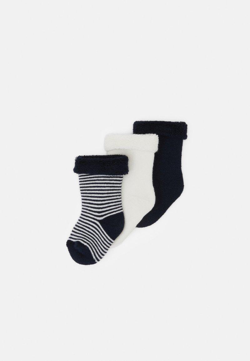 Petit Bateau - PAIRES CHAUSSETTE UNISEX  3 PACK - Socks - dark blue/white