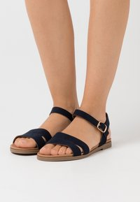 New Look Wide Fit - WIDE FIT GREAT - Sandales - navy - 0