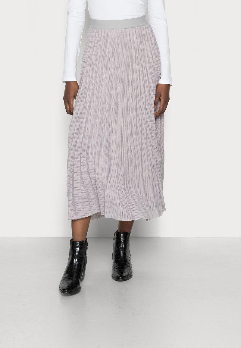 Rich & Royal - PLISSEE SKIRT - Plisovaná sukně - cloudy grey