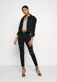 Topshop - SUPER JONI - Jeans Skinny Fit - black - 1