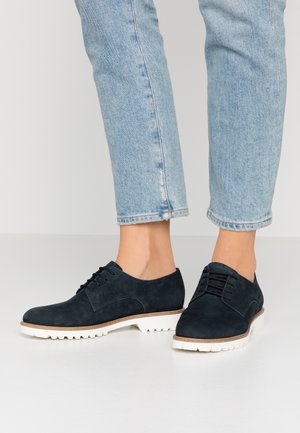 Lace-ups - navy/ white