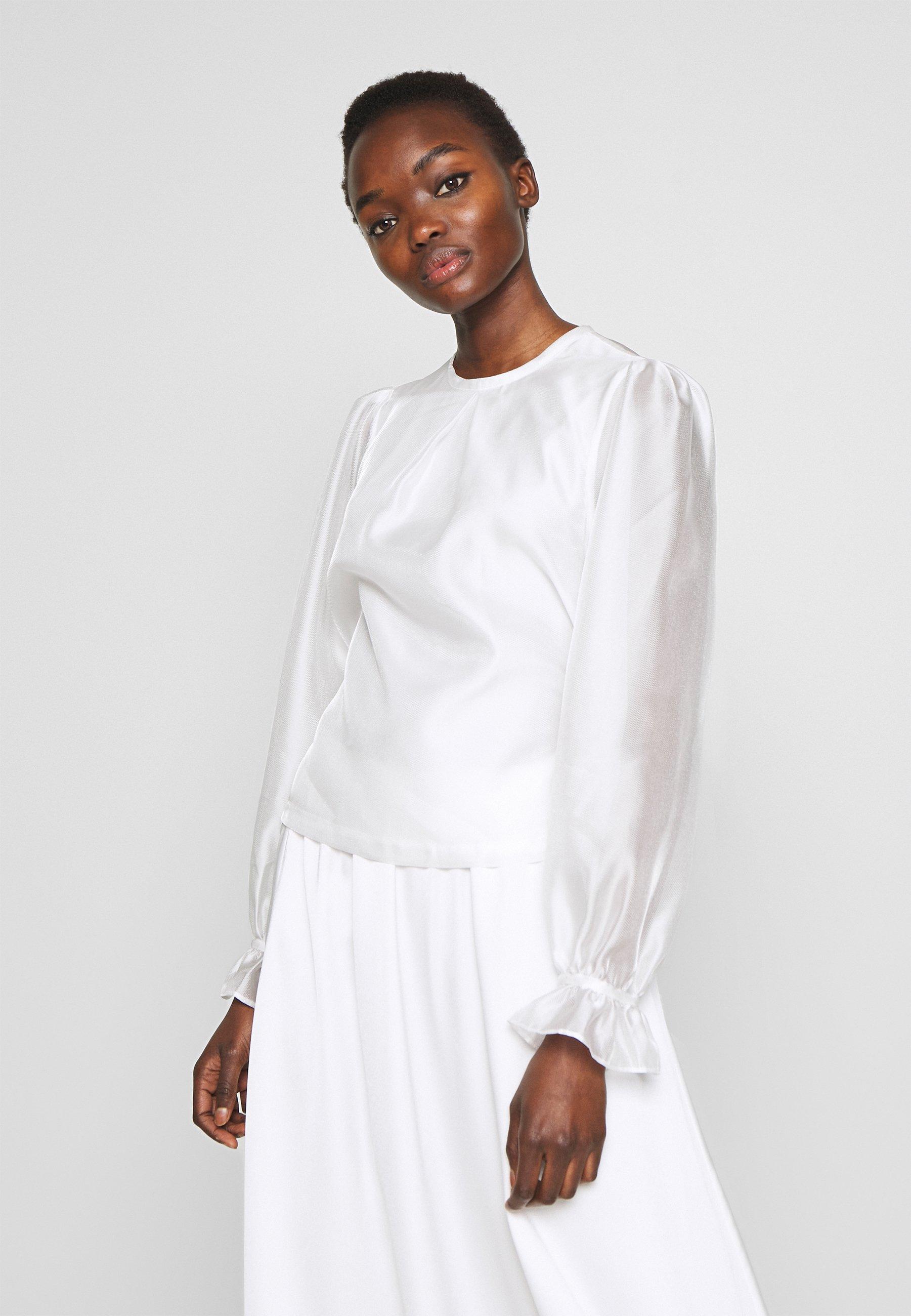 White Sonia Blouse  Designers Remix  Bluser - Dameklær er billig