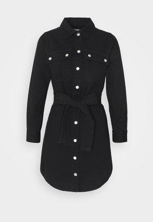 SIMONE DRESS - Dongerikjole - black