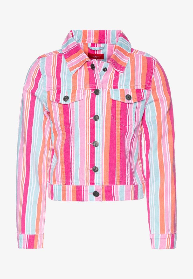 s.Oliver - LANGARM - Denim jacket - purple/pink