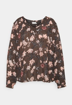 BRIANA AMI BLOUSE - Blouse - brown/dusty red