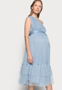 Anaya with love Maternity - ONE SHOULDER MIDI DRESS WITH RUFFLE DETAIL - Cocktail dress / Party dress - cornflower blue - 3