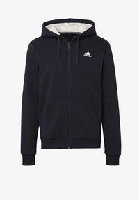 adidas Performance - WINTER 3-STRIPES FULL-ZIP HOODIE - Zip-up hoodie - black - 8