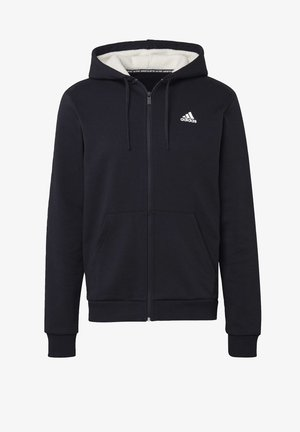WINTER 3-STRIPES FULL-ZIP HOODIE - Zip-up hoodie - black