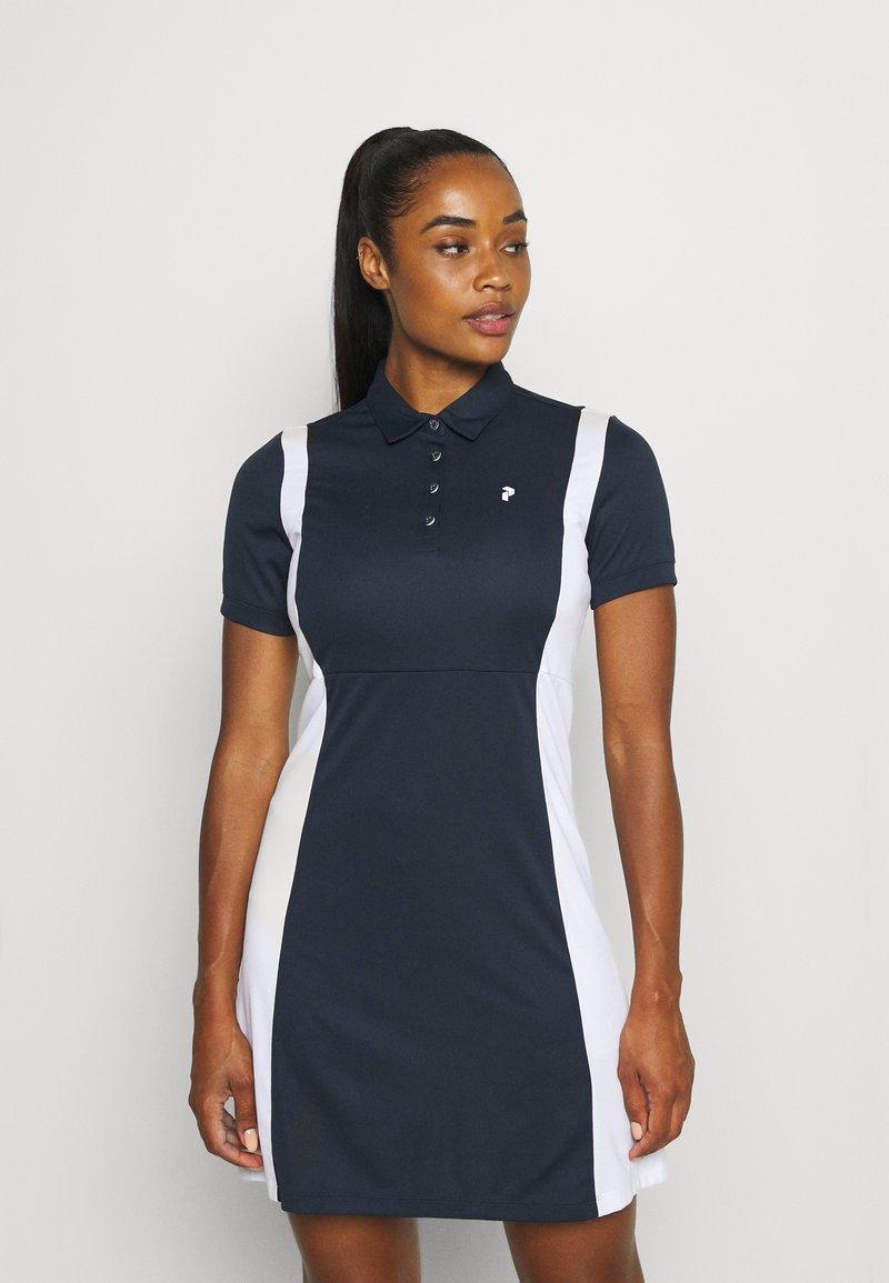 Peak Performance - ALTA BLOCK DRESS - Sports dress - blue shadow/white