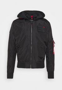 Alpha Industries - HOOD CUSTOM - Bomber Jacket - black/red - 6