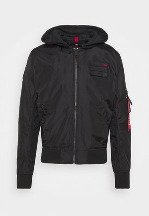 HOOD CUSTOM - Bomber Jacket - black/red