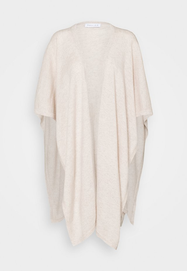 OPEN PONCHO - Poncho - light beige