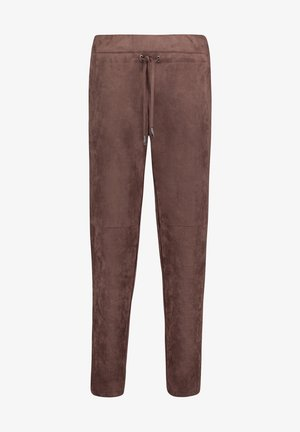 MIT TUNNELZUG - Tracksuit bottoms - dark chocolate