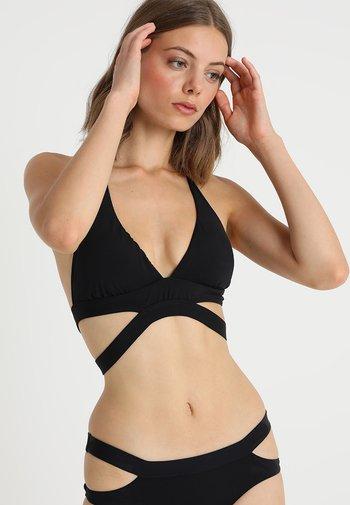 ACTIVE HALTER - Bikini top - black