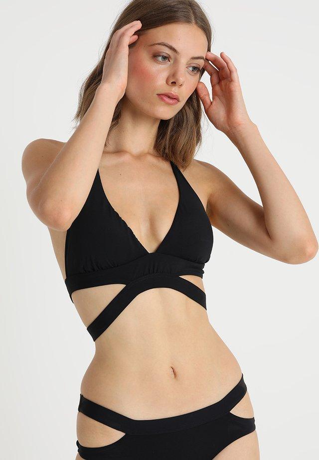 ACTIVE HALTER - Bikini-Top - black
