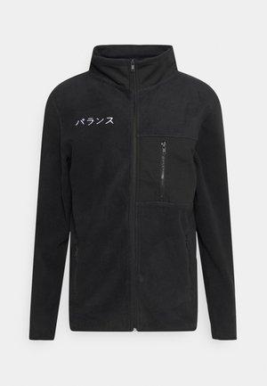 ZIP JACKET - Fleece jacket - black