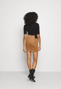 Vero Moda - VMCAVA SKIRT - Mini skirt - tobacco brown - 2