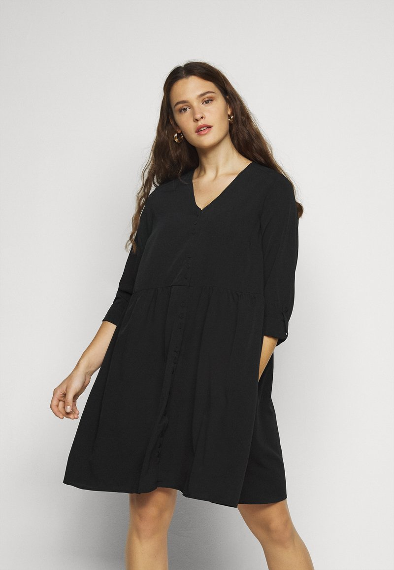 Vero Moda Curve - VMGABRINA SHORT SHIRT DRESS - Day dress - black