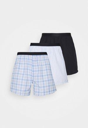 3 PACK - Boxer shorts - dark blue/light blue/white