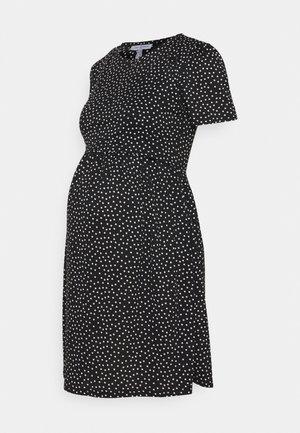 LIMBO - Jersey dress - black/white
