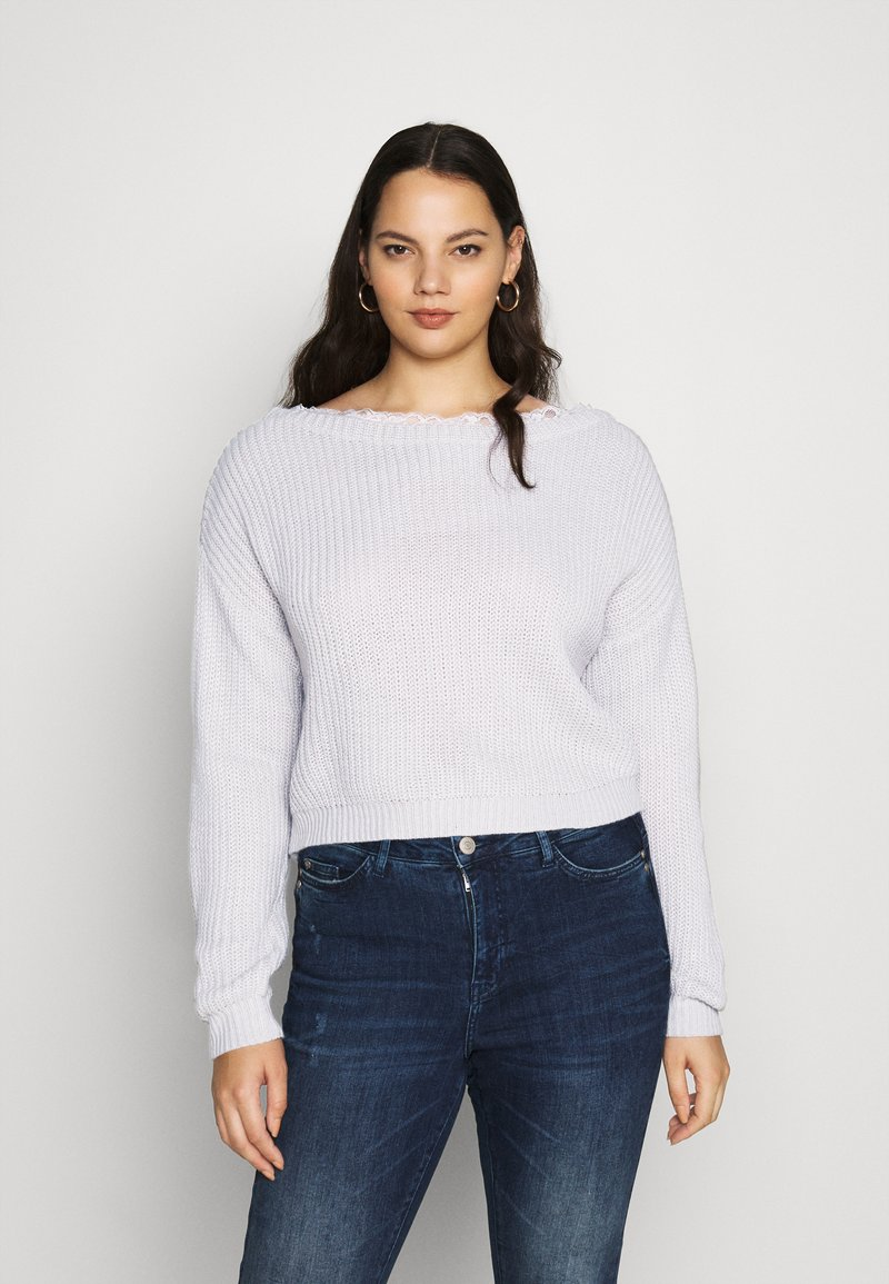 Missguided Plus - SHOULDER JUMPER - Jumper - grey