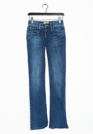 Jeansy Straight Leg - brown