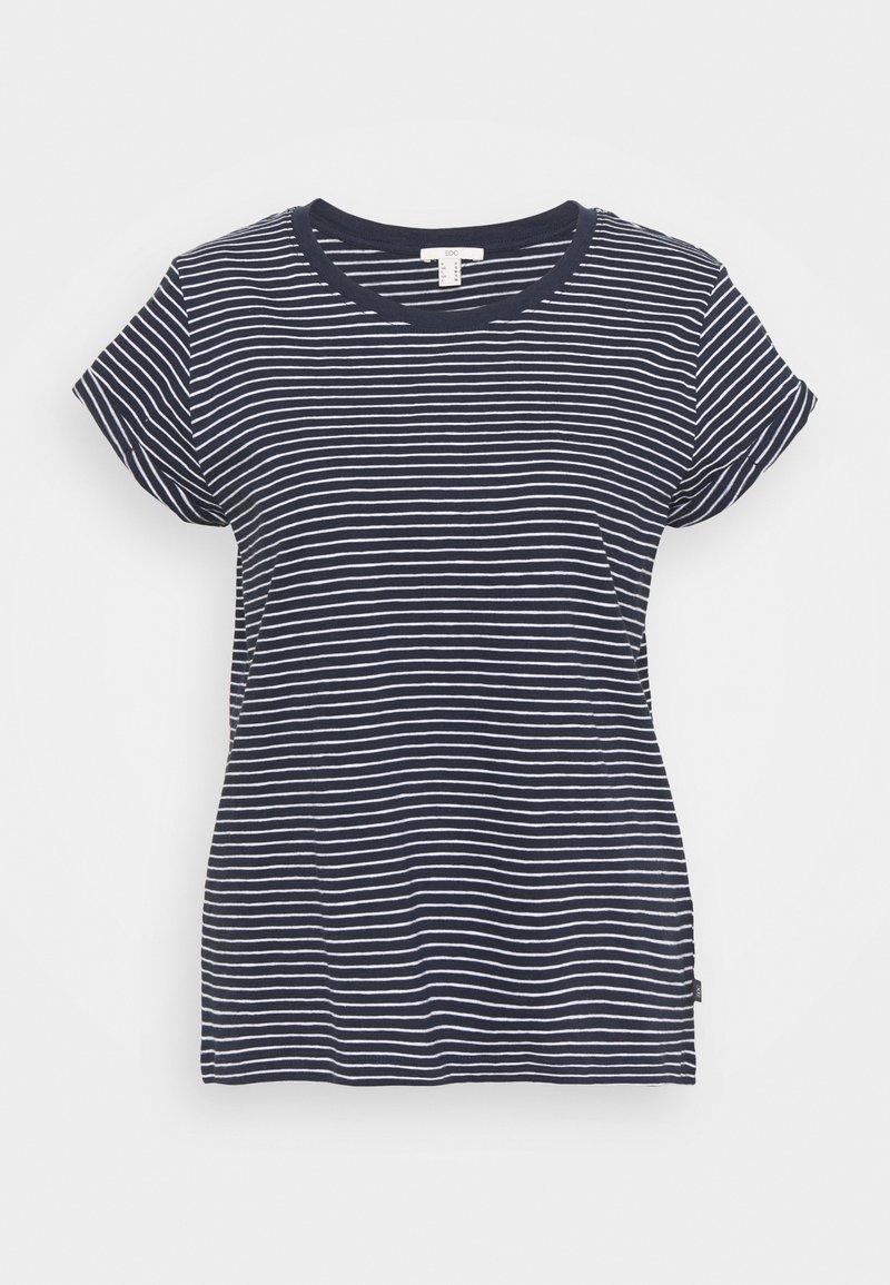 edc by Esprit - CORE - Print T-shirt - dark blue