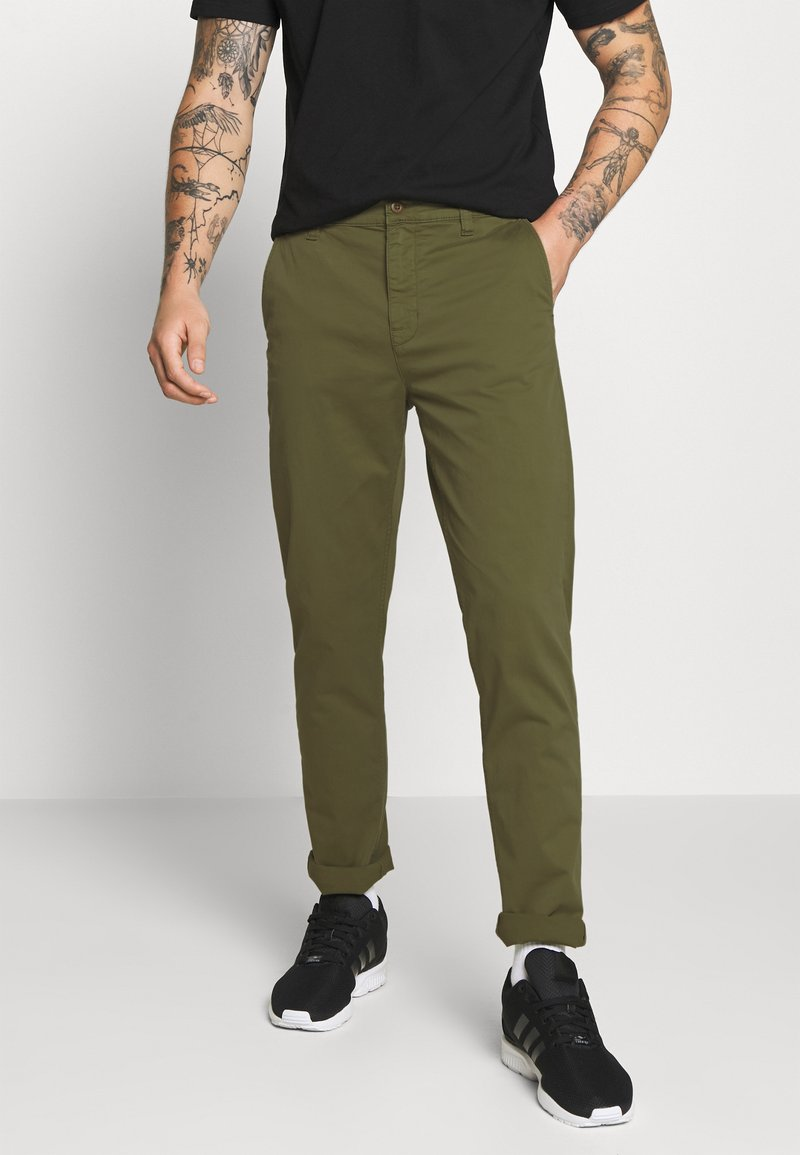 Nudie Jeans - EASY ALVIN - Chino kalhoty - green