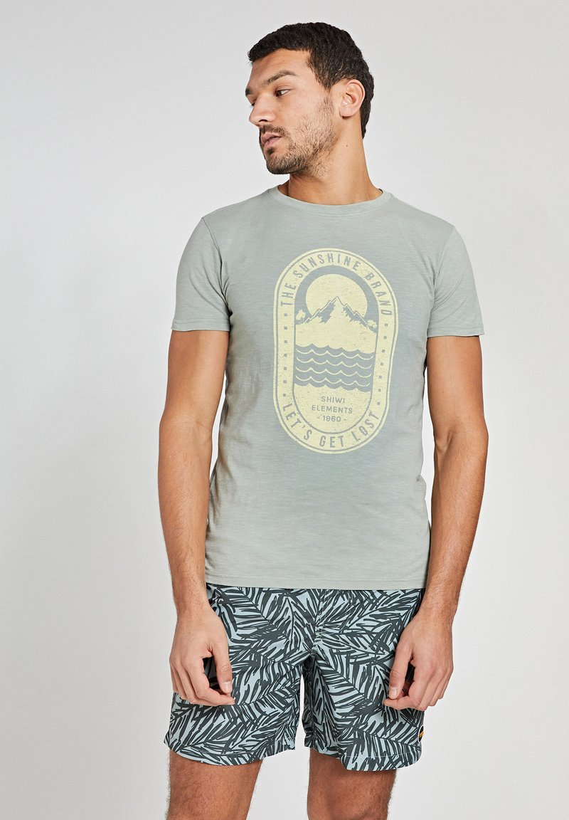 Shiwi - TROPICS PLACED PRINT - Print T-shirt - miami pistache